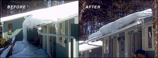 Professional Todd Fritz Personnel Can Remove Ice Dams With No Damage To  Your Roof And Gutters!